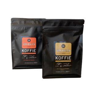 Koffiebonen GoudBrand en OranjeBrand